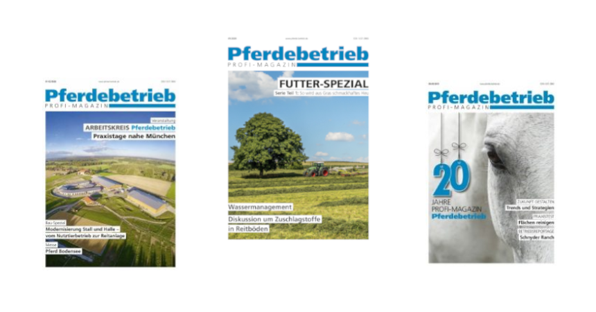 Gratis: 6 Ausgaben Profi-Magazin Pferdebetrieb